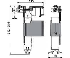 Универсальный наполнительный клапан SANIT 25.001.00..0000