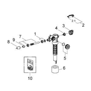 Смывной механизм с кнопкой Grohe Dally-Fvent (37092000)