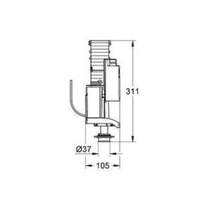 Выпускной клапан GROHE 42320000