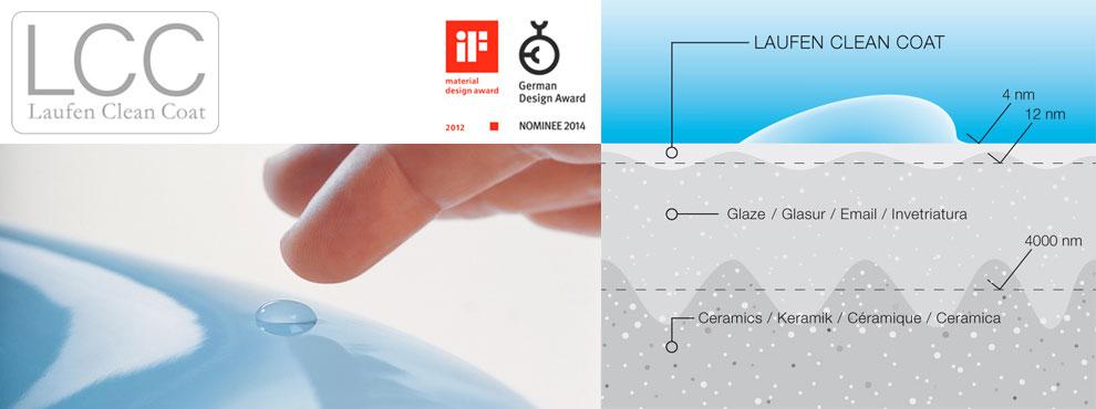 Laufen LCC— технология покрытия умывальников и унитазов