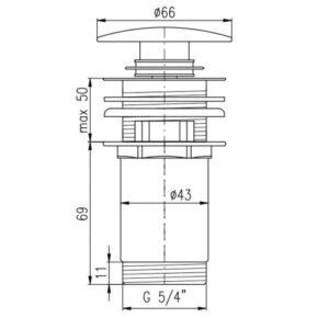 Донный клапан для раковины Rav Slezak MD0484SM бронзовый