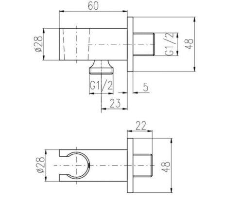 Подключение шланга со стоп вентилем Rav Slezak Md0750