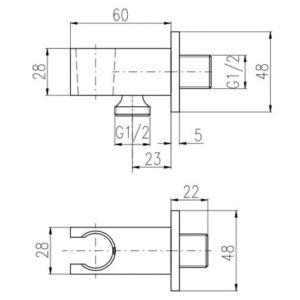 Подключение шланга со стоп вентилем Rav Slezak MD0751
