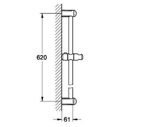 Душевая штанга 600 мм (27523000) Grohe Tempesta Classic