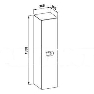 Пенал высокий для ванной правый Laufen-MIMO (черный) (4.6255.2.055.540.1)