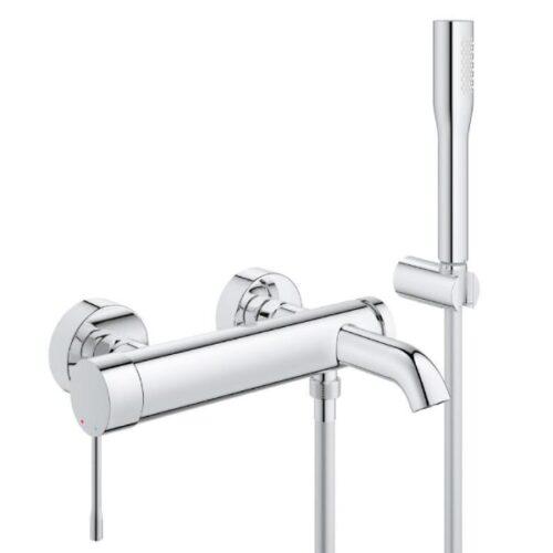 Смеситель Grohe Essence однорычажный для ванны (33628001) с душевым набором