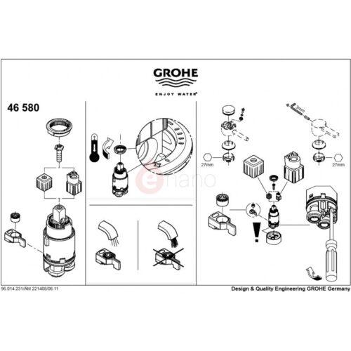 Картридж керамический Grohe 28 мм SilkMove (46580000)