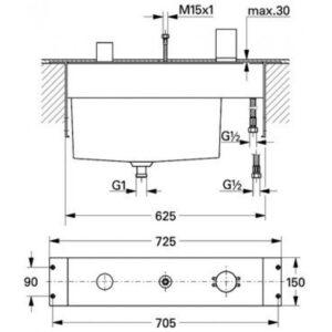 Вбудований механізм 33341000 для Grohe Tenso (19153000)