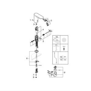 Смеситель Grohe Bau Cosmopolitan 36451000 для раковины инфракрасная электроника