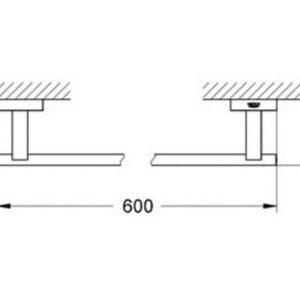Тримач для банного полотенця Grohe Essentials Cube 40509001